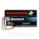Bulk 357 Sig Ammo For Sale - 125 Grain JHP Ammunition in Stock by Winchester Ranger Bonded - 500 Rounds