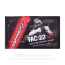 Premium 22 LR Ammo For Sale - 40 Grain Ammunition in Stock by Norma Tac-22 - 500 Rounds