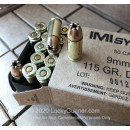 Cheap 9mm Ammo For Sale - 115 Grain Di-Cut JHP Ammunition in Stock by IMI - 50 Rounds