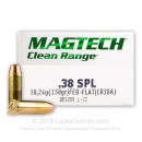 Indoor Range 38 Special Ammo For Sale - 158 gr fully encapsulated base Magtech Ammunition In Stock - 50 Rounds