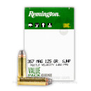 357 Mag Ammo For Sale - 125 gr SJHP Remington UMC Ammunition In Stock