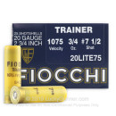 "20 ga Target Shells For Sale - 2-3/4"" 3/4 oz Low Recoil Target Shell Ammunition by Fiocchi"