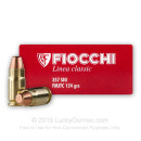 357 Sig Ammo For Sale - 124 gr FMJTC Fiocchi Ammunition In Stock