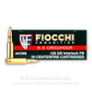 Premium 6.5 Creedmoor Ammo For Sale - 129 Grain PSP Ammunition in Stock by Fiocchi - 20 Rounds