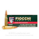 Premium 308 Ammo For Sale - 175 Grain HPBT Ammunition in Stock by Fiocchi Exacta Match - 20 Rounds