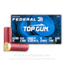 "Bulk 12 Gauge Ammo - 2-3/4"" Lead Shot Target shells - 1 1/8 oz - #8 shot - Federal Top Gun - 250 Rounds"