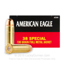 38 Special - 130 Grain FMJ - Federal American Eagle - 50 Rounds