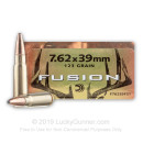 Premium Hunting 7.62x39mm 123 grain Federal Fusion Hunting Ammunition - 20 Rounds