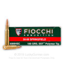 Bulk .30-06 Springfield Ammo - Fiocchi Extrema Hunting 180gr SST - 200 Rounds