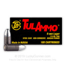 Cheap 9mm Ammo In Stock - 115 gr FMJ - 9mm Ammunition by Tula Cartridge Works For Sale - 100 Rounds