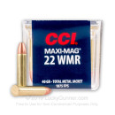 22 WMR Ammo For Sale - 40 gr TMJ - CCI Maxi Mag Ammunition In Stock - 50 Rounds