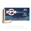 Bulk 7.62mm Nagant Ammo For Sale - 98 gr JFP Jacketed Flat Point Ammunition Online by Prvi Partizan - 500 Rounds