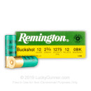 "Bulk 12 ga Ammo For Sale - 2-3/4"" 0 Buck Ammunition by Remington - 250 Rounds"