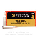 Cheap 223 Rem Premium Rifle Ammo For Sale - 40 gr Nosler Ballistic Tip - Federal Premium Ammo Online - 20 Rounds