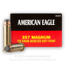 357 Mag Ammo For Sale - 158 gr JSP Ammunition by Federal American Eagle In Stock - 50 Rounds