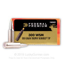 Premium 300 WSM Ammo For Sale - 180 Grain Trophy Bonded Tip Ammunition in Stock by Federal Vital-Shok - 20 Rounds