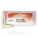 Premium 348 Win Ammo For Sale - 200 Grain FTX Ammunition in Stock by Hornady LEVERevolution - 20 Rounds