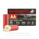 "12 Gauge Ammo - Winchester AA Light Target 2-3/4"" #8 Shot - 250 Rounds"