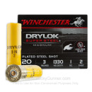 """Cheap 20 Gauge Ammo For Sale - 3"""" 1 oz. #2 Shot Ammunition in Stock by Winchester Drylock - 25 Rounds"""