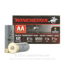 "Cheap 12 Gauge Ammo For Sale - 2-3/4"" 1-1/8oz. #7.5 Shot Ammunition in Stock by Winchester AA TrAAcker - 25 Rounds"