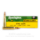 Cheap 270 Win Ammo In Stock  - 100 gr Remington PSP Ammunition For Sale Online - 20 rounds
