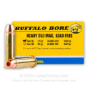 Premium 357 Magnum Ammo For Sale - 125 Grain XPB HP Ammunition in Stock by Buffalo Bore - 20 Rounds
