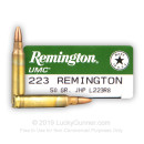 Bulk 223 Rem Ammo For Sale - 50 gr JHP Ammunition In Stock by Remington UMC - 200 Rounds
