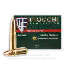 Brass Cased 7.62x39 Ammo In Stock - 124 gr FMJ - 7.62x39 Ammunition by Fiocchi For Sale - 20 Rounds