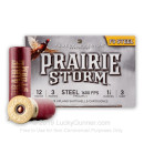 """Premium 12 Gauge Ammo For Sale - 3"""" 1-1/8 oz. #3 Steel Shot Ammunition in Stock by Federal Prairie Storm - 25 Rounds"""