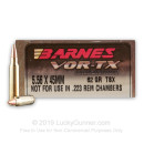 Premium 5.56x45mm Ammo For Sale - 22 Grain TSX Ammunition in Stock by Barnes VOR-TX - 20 Rounds