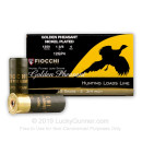 """12 ga 2-3/4"""" Golden Pheasant Fiocchi Shells For Sale - 1-3/8 oz Nickel Plated Lead #4 Loads by Fiocchi - 25 Rounds"""