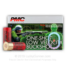 """LE 12 ga Ammo For Sale - 2-3/4"""" 00 Buck Low Velocity 9 Pellet Ammunition by PMC - 250 Rounds"""