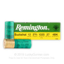 "12 ga Ammo For Sale - 2-3/4"" #4 Buck Ammunition by Remington - 5 Rounds"