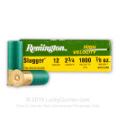"12 ga Ammo For Sale - 2-3/4"" 7/8 oz. High Velocity Rifled Slug Ammunition by Remington"