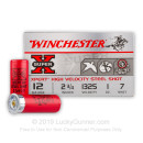 "Cheap 12 Gauge Steel Shot - 2-3/4"" Steel Shot Target shells - 1 oz - #7 - Winchester Xpert Game and Target - 25 Rounds"