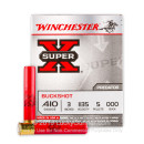 """410 Bore Ammo For Sale - 3"""" 000 Buckshot Ammunition by Winchester Super-X - 5 Rounds"""