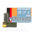 "12 Gauge Ammo - Fiocchi Optima Specific High Velocity 2-3/4"" #6 Shot - 25 Shells"