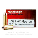 Cheap 32 H&R Ammo For Sale - 85 Grain JHP Ammunition in Stock by Black Hills - 50 Rounds