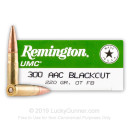 Cheap 300 AAC Blackout Ammo For Sale - 220 gr OTFB - Remington UMC Ammo Online - 20 Rounds