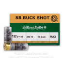 """Cheap 12 ga Ammo For Sale - 2-3/4"""" 00 Buck 12 Pellet by Sellier & Bellot - 25 Rounds"""