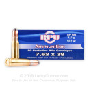 Brass Cased 7.62x39 Ammo In Stock - 123 gr SP - 7.62x39 Ammunition by Prvi Partizan For Sale - 20 Rounds
