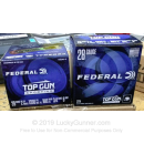 "Cheap 28 Gauge Ammo For Sale - 2-3/4"" 3/4oz. #9 Shot Ammunition in Stock by Federal Top Gun Sporting - 25 Rounds"