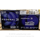 "Cheap 28 Gauge Ammo For Sale - 2-3/4"" 3/4oz. #8 Shot Ammunition in Stock by Federal Top Gun Sporting - 25 Rounds"