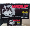 Cheap 45 ACP Ammo For Sale - 230 Grain FMJ Ammunition in Stock by Wolf Performance - 50 Rounds