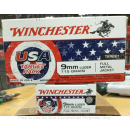 Cheap 9mm Ammo For Sale - 115 Grain FMJ Ammunition in Stock by Winchester USA Target Pack - 50 Rounds