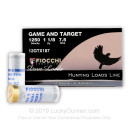 "Bulk 12 Gauge Ammo For Sale - 2 3/4"" 1 /1/8 oz. #7 1/2 Shot Ammunition in Stock by Fiocchi Game & Target - 250 Rounds"