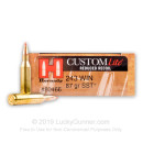 Cheap 243 Win Ammo In Stock  - 87 Grain SST by Hornady Custom Lite Ammunition For Sale Online - 20 Rounds