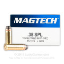 38 Special Ammo For Sale - 158 Grain SJHP Magtech Ammunition In Stock - 1000 Rounds