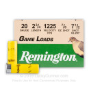 "Cheap 20 ga - 2-3/4"" 7/8 oz #7.5 Game Load - Remington  - 25 Rounds"