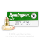 357 Sig Ammo For Sale - 125 gr JHP - Remington Ammunition In Stock